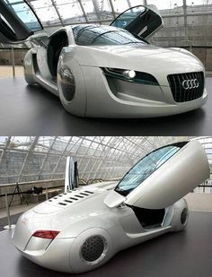 "Audi's futuristic concept car from the movie ""I Robot"" with Will Smith."