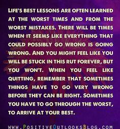 life's best lesson