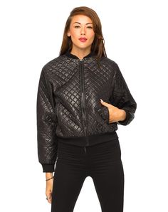 Motel: Quilted Bomber Jacket