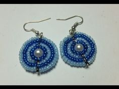Pendientes de rocallas y alambre. Wire and beads earrings, free video tutorial.
