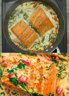 Good Healthy Recipes, Clean Recipes, Crockpot Recipes, Vegetarian Recipes, Cooking Recipes, Cooking Videos, Baked Salmon Recipes, Fish Recipes, Seafood Recipes