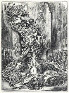 La ronde du Sabbat (The ring of Sabbath) Louis Boulanger, from Cent dessins ,extraits des oeuvres de Victor Hugo