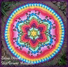 mandala http://zootyowlcards.blogspot.com/2014/04/starflower-mandala-pattern.html