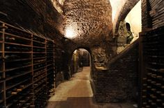 Ristorante Spirito di Vino - at the corner of Via dei Genovesi and Vicolo dell'Atleta in Trastevere, This restaurant is home to a cavernous wine cellar which dates back to 80 BC. ristorantespiritodivino.com