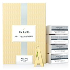 Tea Forte BULK PACK Orchid Vanilla Black Tea 48 Handcrafted Pyramid Tea Infusers >>> Visit the image link more details. (This is an affiliate link and I receive a commission for the sales)