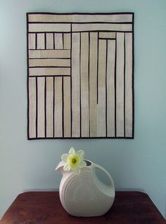 """Barn Door"" - Modern Improvised Art Quilt 