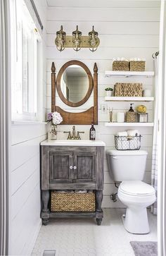Small Master Bathroom Makeover on a Budget - small master bathroom budget makeover, bathroom ideas, diy, home improvement Best Picture For diy - Bathroom Makeovers On A Budget, Budget Bathroom, Remodel Bathroom, Bathroom Mirrors, White Bathroom, Bathroom Cabinets, Bathroom Small, Bathroom Renovations, Bathroom Faucets