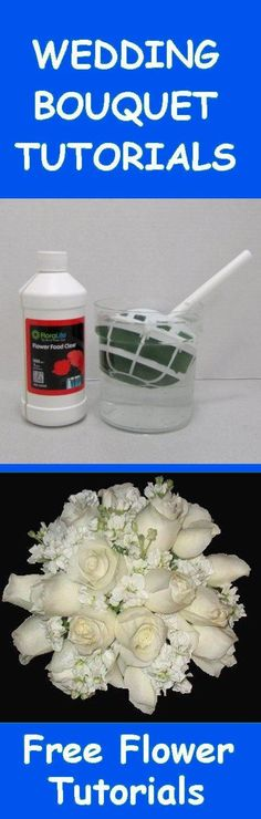 Make Your Own Bridal Bouquet - Learn how to make wedding bouquets, mother corsages, groom boutonnieres, reception table centerpieces and church flower decorations.  Buy fresh flowers and discount florist supplies.