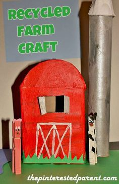 Recycled Farm meet with tissue box, t paper towel roll and clothespins