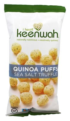 I Heart Keenwah Quinoa Puffs - sea salt and truffle oil
