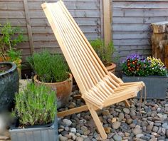 Nordeck chair in Siberian Larch at our clients London garden.