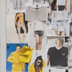 Tracksmith's inspiration boards for the women's collection.