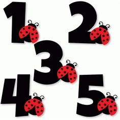 Silhouette Design Store - View Design #78503: ladybug numbers 1 2 3 4 5