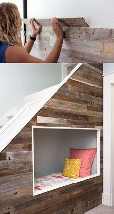 Pallet Wall and Shiplap Wall: 30 Beautiful DIY Wood Wall Ideas - Page 3 of 3 - A Piece Of Rainbow