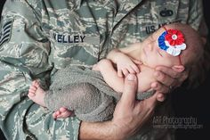 I love this, this is a cute idea for Sophia and her daddy <3 Air Force newborn photography
