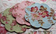 Quilted Coasters, love the fabrics here