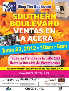 Southern Boulevard BID June Sidewalk Sale 2012 Promo Flyer (spa)