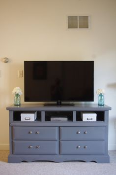 Repurposing a Dresser into a tv stand