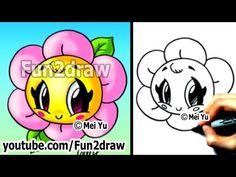 Kawaii Tutorial - How to Draw a Flower - Cute & Easy!