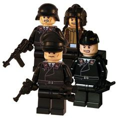 World War II style 4 man German Panzer crew. Created using LEGO® parts and some great custom components. This German army squad includes an Officer, Driver, Radioman and Trooper figure. Each minifig comes with its own accessories and packaging, making a unique and quirky present for collectors.