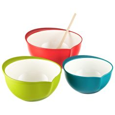 Gain a new perspective with our Mixing Bowls, which are designed to be used at an angle for easier mixing.