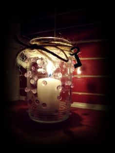 homemade candle glass