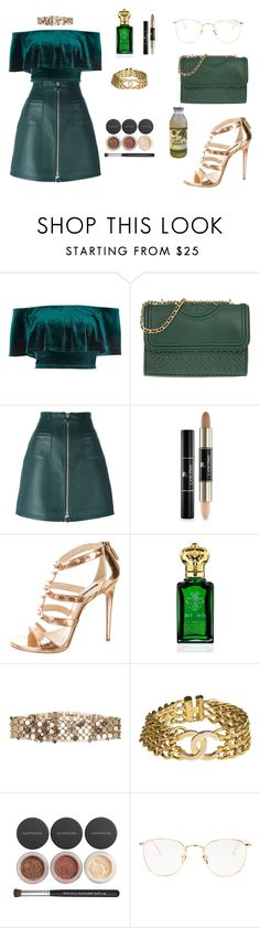 """JULIA"" by twyzter ❤ liked on Polyvore featuring River Island, Tory Burch, Carven, Lancôme, Ruthie Davis, Clive Christian, Lanvin, Chanel, Bare Escentuals and Linda Farrow"