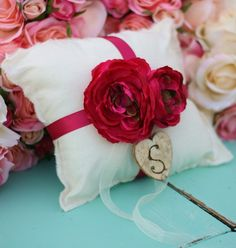 cotton shabby chic pillow n2s would be neat made from hankies