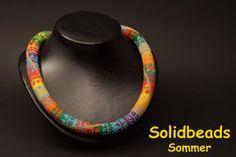 Eté imprimé collier Crochet par Solidbeads sur Etsy