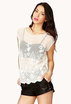Embroidered Lace Top | FOREVER21 - 2042003838