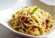 Summer Squash Chicken Alfredo | The Cooking Insider