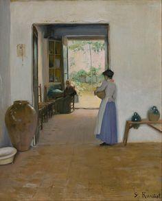 Santiago Rusiñol (Spain,1861-1931)  Sitges Interior 1894
