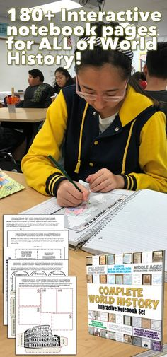 Interactive Notebook activities for ALL of World History! Includes over 180 pages!