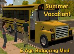 Mod The Sims - 'Let Kids Be Kids' - Lifespan and School Vacation Mods
