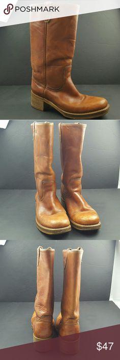 Dingo Women's Motorcycle boots size 8D Acme Dingo Women's Motorcycle boots Brown Leather size 8D in excellent condition dingo Shoes Combat & Moto Boots