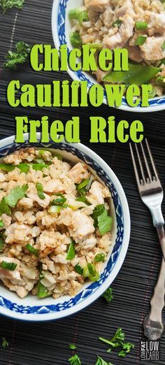 Chicken Cauliflower Fried Rice is another cauliflower recipe we can't get enough of! In addition to cauliflower, you'll find tasty ingredients such as eggs, snow peas, garlic, and coriander. Don't forget to share this recipe with your friends and rate the recipe to let us know how much you loved it!