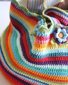 Gorgeous crochet bag from Attic 24 pattern