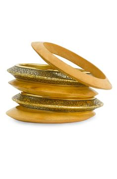 Spring Street Design Group Metal & Wood Bangles (Set of 5) #Nordstrom