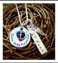 Missing my baby - Personalized Hand Stamped Miscarriage/born into by Nestledwithlove, $42.00