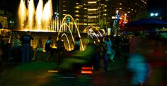 A beautiful picture of the fountain after dark #campusmartiuspark #detroit #downtown