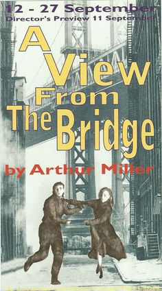 Poster of A View form the Bridge  in Perth Theatre 's Play 12th September  1995 -  27th September 1995