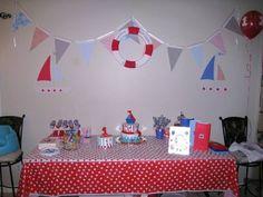 Cason's nautical birthday deco