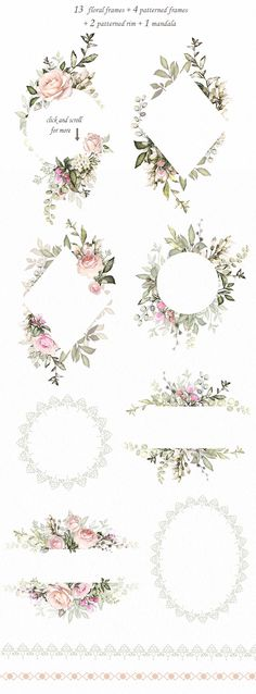 Love & Roses. Floral Design set by LisimArt on @creativemarket