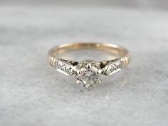 Demure Vintage Diamond Engagement Ring Circa 1930s  by MSJewelers $909AUD + $68 postage