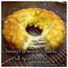 Extra Cheesy Parmesan And Garlic Pull Apart Bread