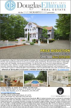 Just Reduced. Quiogue 6 Bedrooms, 4 Baths with Pool Just reduced! Was $995,000. Now $929,000.