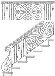 Stair Railing Designs ISR044B