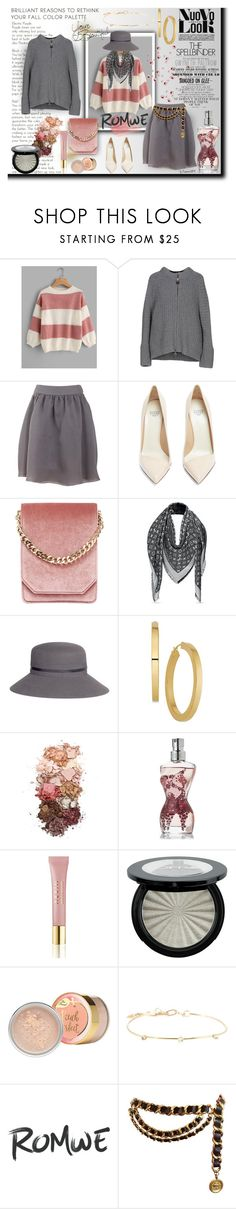 """""""ROMWE NUOVO LOOK"""" by emperormpf ❤ liked on Polyvore featuring Brand Unique, Armani Jeans, Francesco Russo, Cafuné, Louis Vuitton, Maison Michel, Gwyneth Shoes, Sigma, Jean-Paul Gaultier and AERIN"""