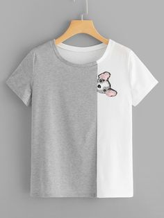 Dress Casual Winter Plus Size Shirts 53 Ideas Plus Size Shirts, Animal Print Tees, Animal Prints, Mode Kawaii, Shirt Designs, Shirt Drawing, T Shirt Painting, Shirt Embroidery, Indian Embroidery