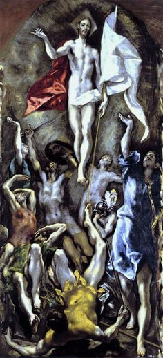El Greco, The Resurrection, Completion Date: c.1595. St. Louis, USA - Mildred lane Kemper Art Museum